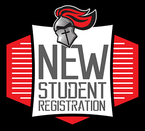 new student reg. tile black