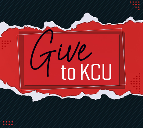 Give to KCU 2020 red and black tile
